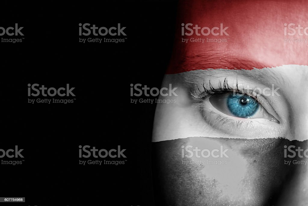 Supporter of Yemen stock photo