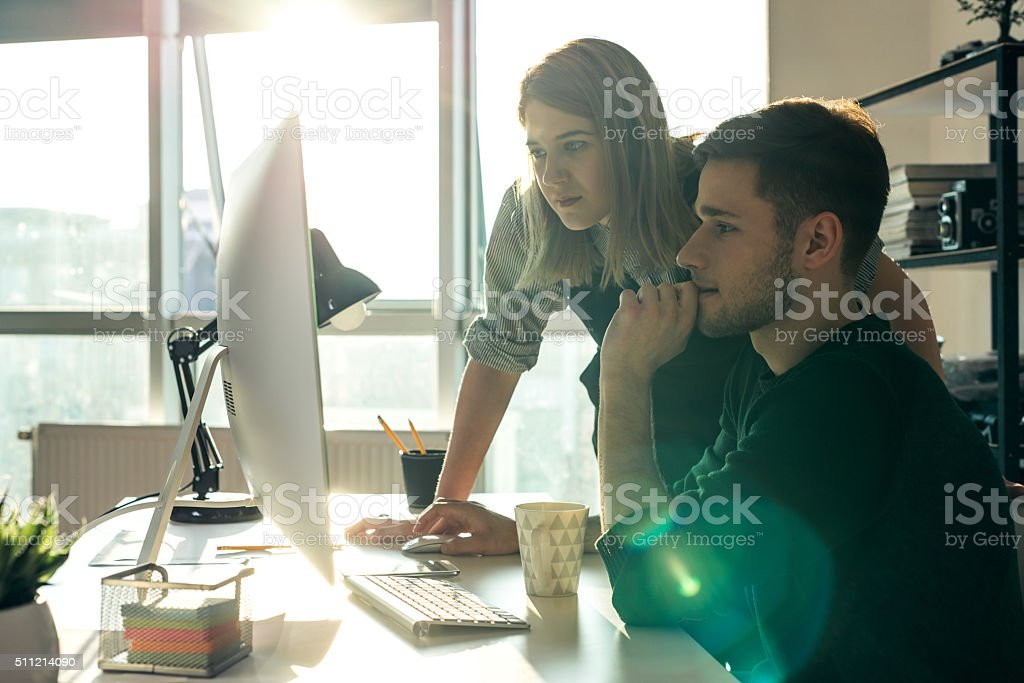 Supporting a colleague stock photo