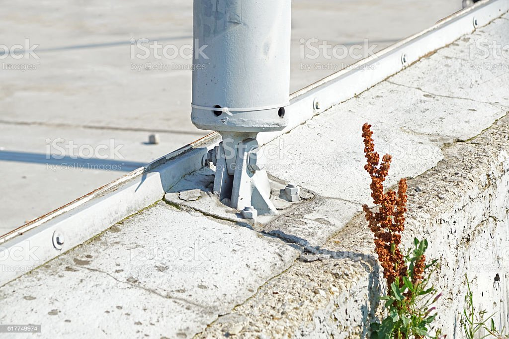 supporting base metal post stock photo