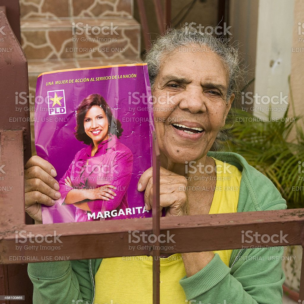 Supporting Dominican Republic First Lady stock photo