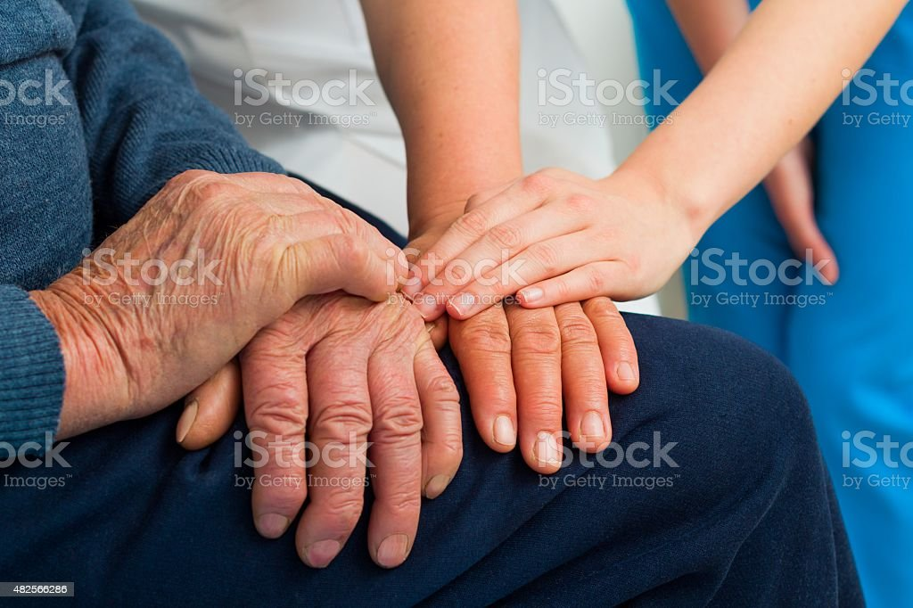 Supporting Hands stock photo