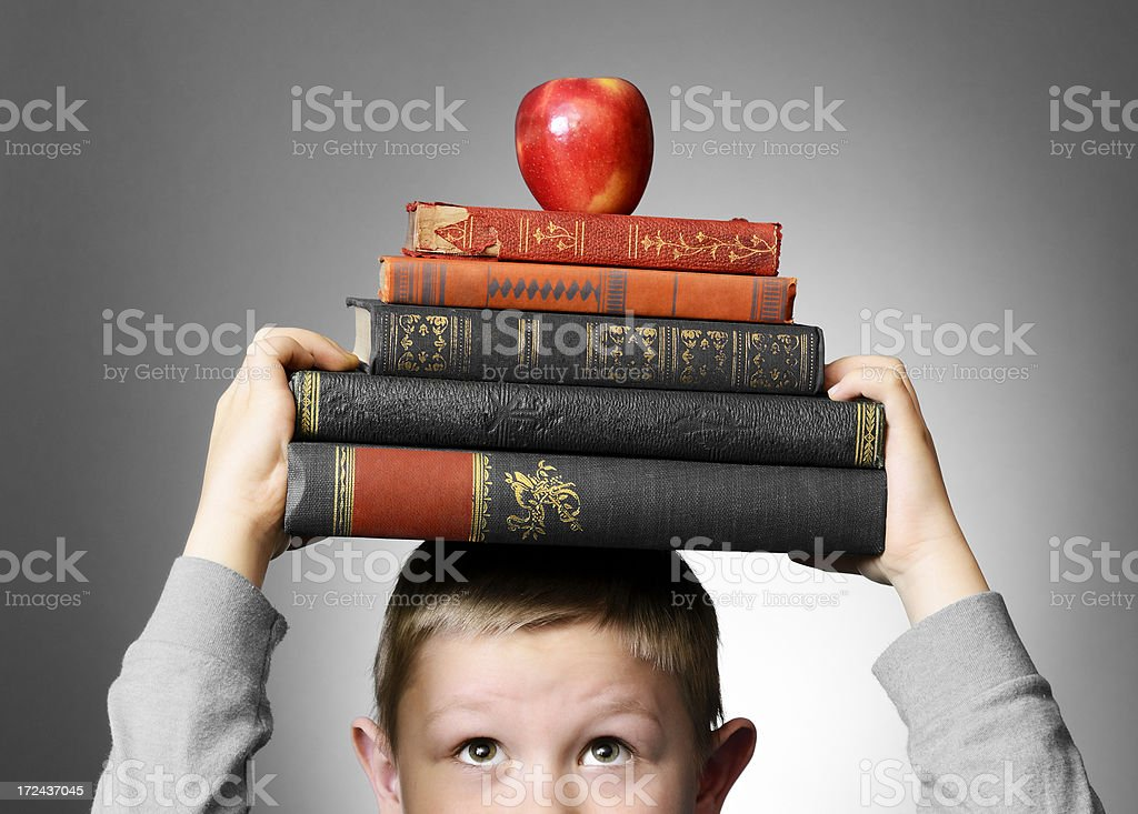Supporting knowledge stock photo