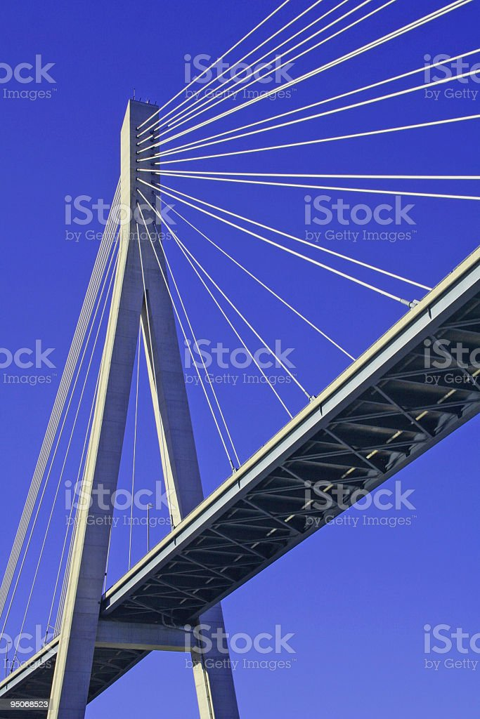 supporting pillar of a harp style bridge royalty-free stock photo