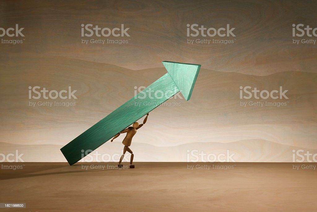 Supporting Progress royalty-free stock photo
