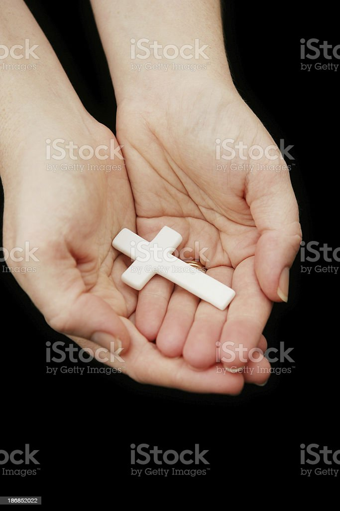 Supporting Religion royalty-free stock photo