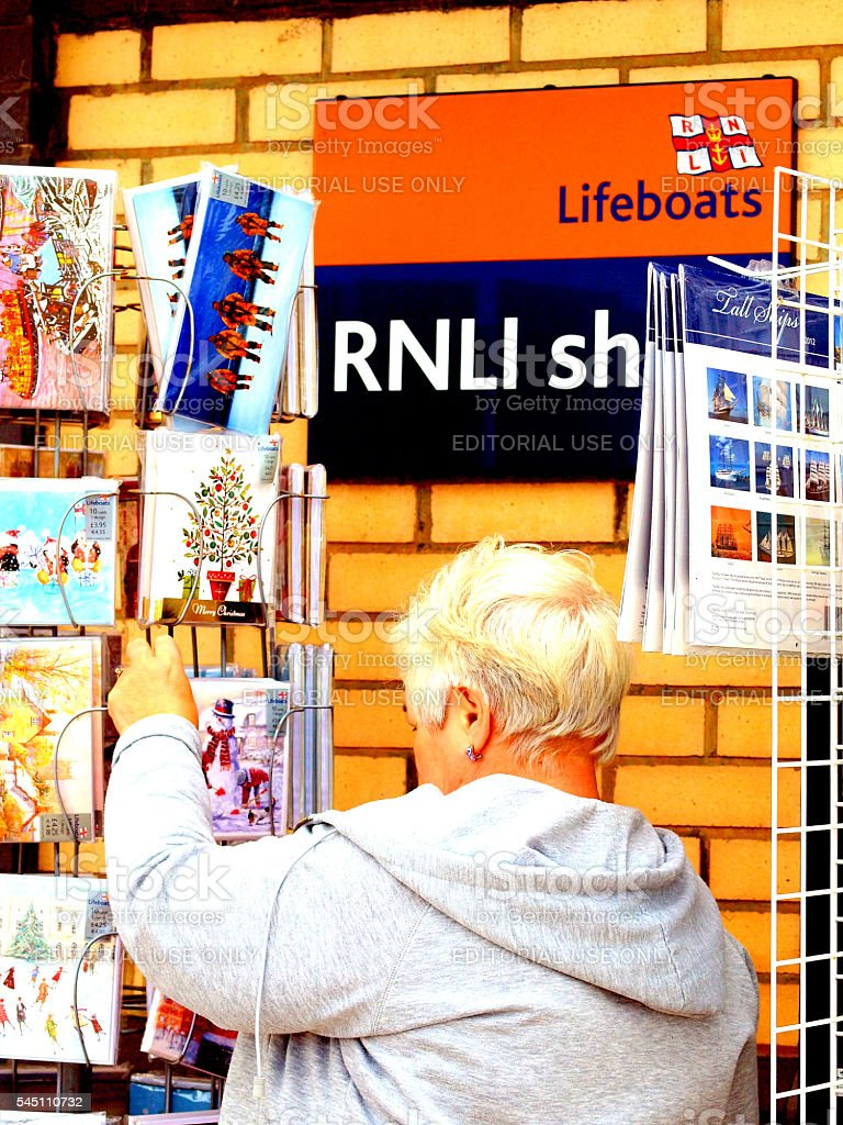 Supporting the lifeboats. stock photo