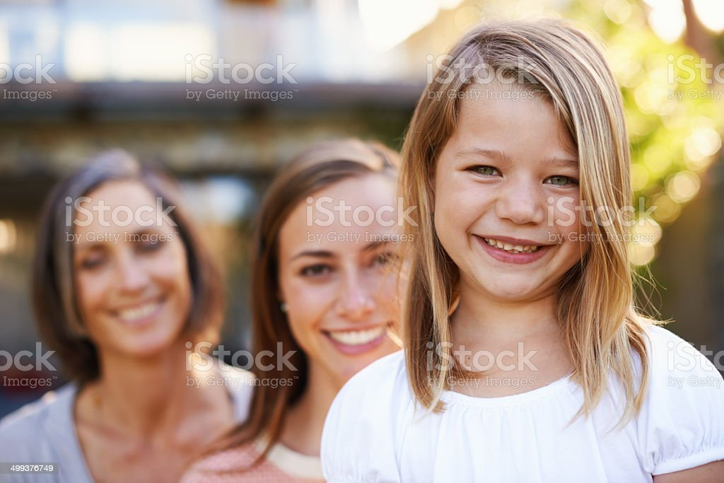 Supporting the new generation royalty-free stock photo