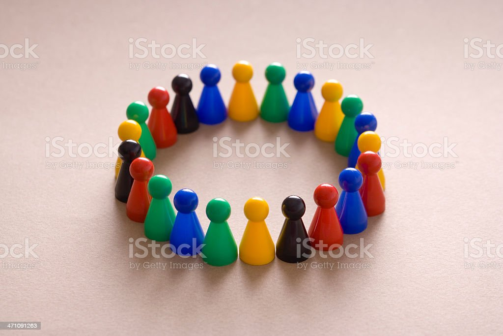 Supportive circle royalty-free stock photo