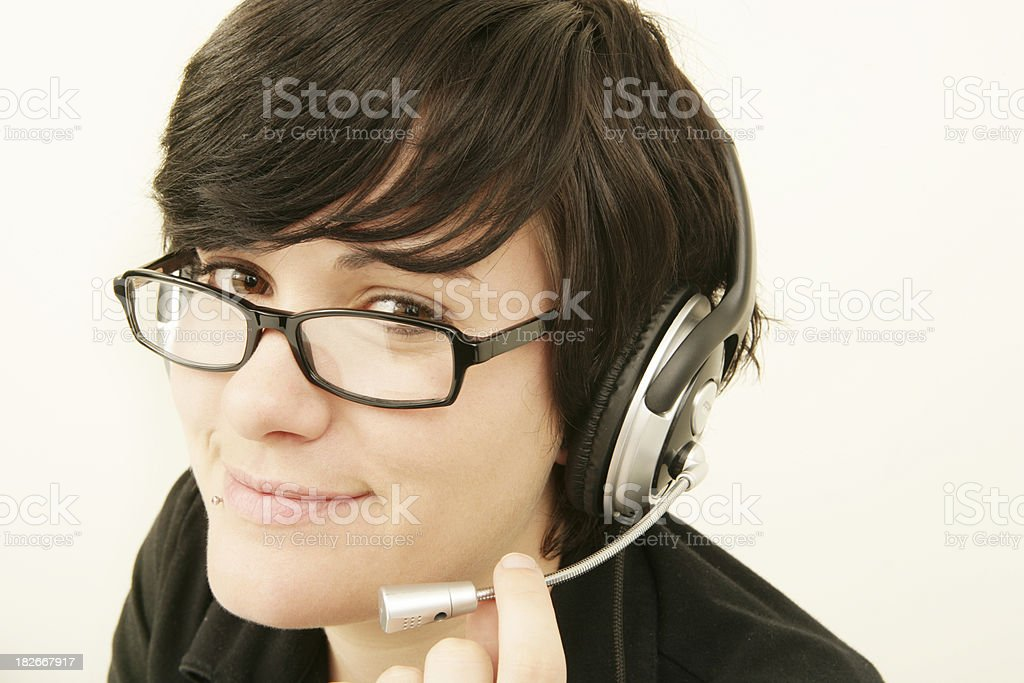 Supportive Smile stock photo