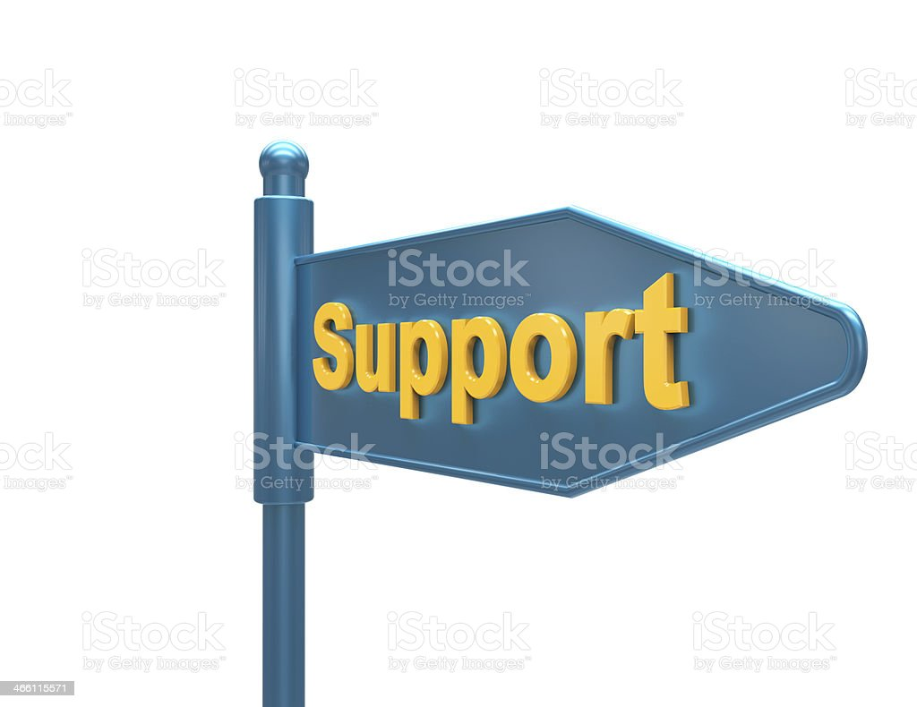 Support-road sign stock photo