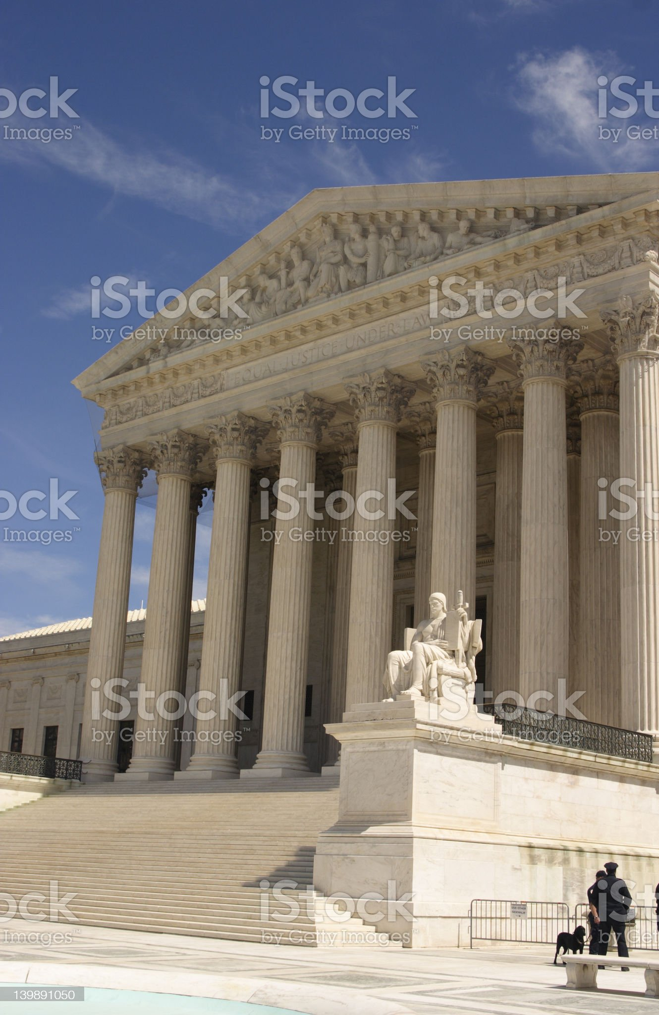 Supreme Court and Guard Dog royalty-free stock photo