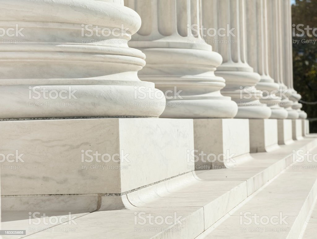U.S. Supreme Court Architectural Detail of Steps and Columns royalty-free stock photo
