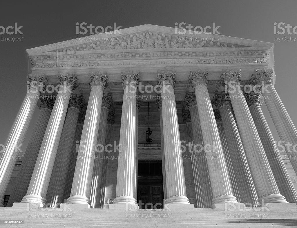 Supreme Court Black and White stock photo