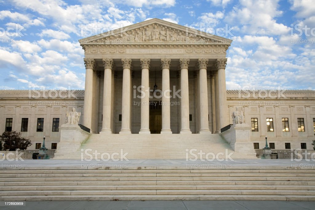 US Supreme Court Building against cloudy background royalty-free stock photo