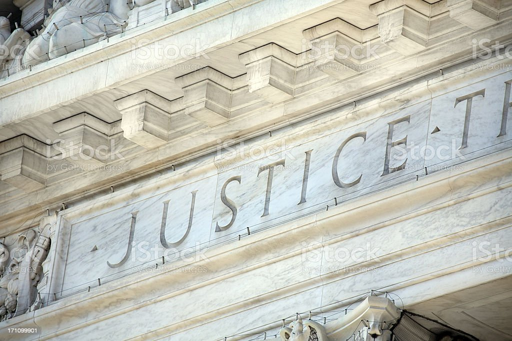 US Supreme Court Building Detail royalty-free stock photo