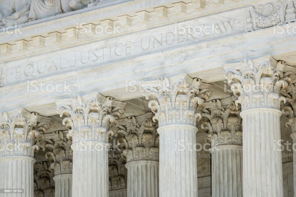 US Supreme Court Building in Washington DC stock photo