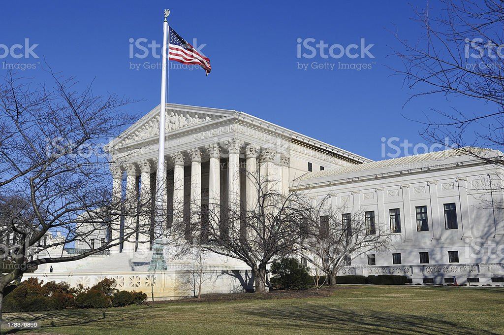 Supreme Court Building in Winter royalty-free stock photo