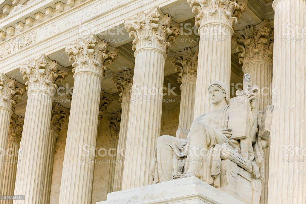 US Supreme Court Building stock photo