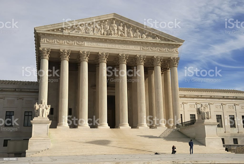 US Supreme Court Building royalty-free stock photo
