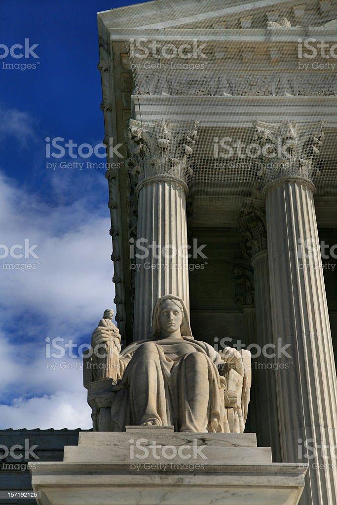 Supreme Court Building Washington DC stock photo