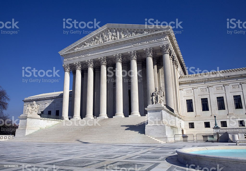 US Supreme Court Building Washington DC royalty-free stock photo
