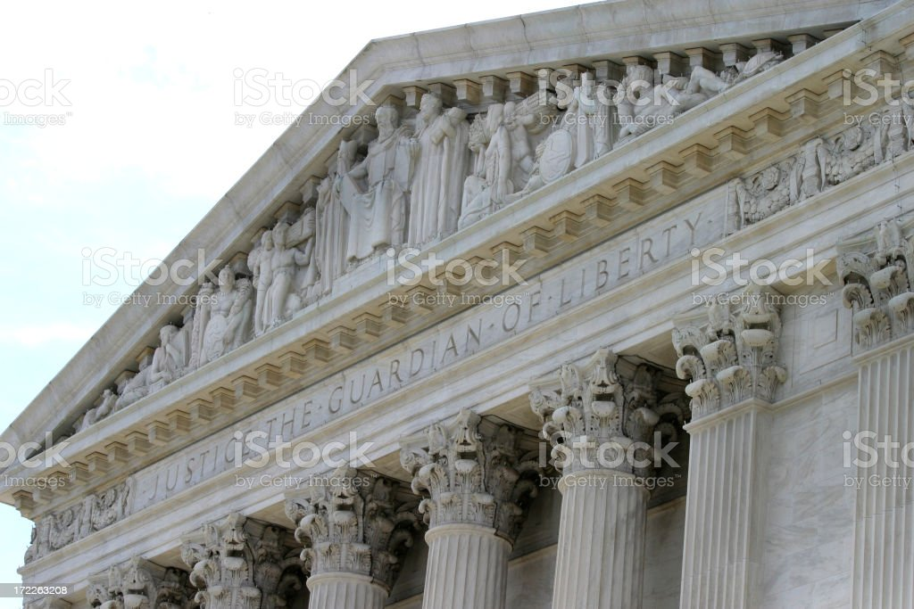 Supreme Court Building Washington DC royalty-free stock photo