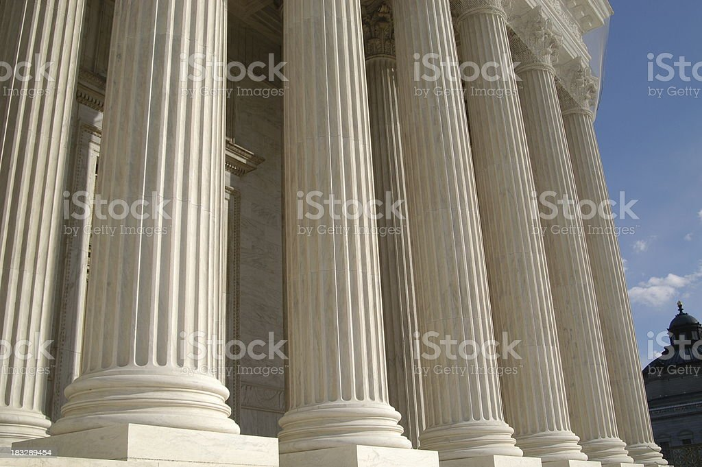 Supreme Court Columns royalty-free stock photo