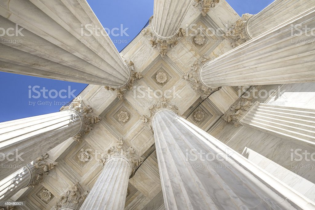 US Supreme Court Columns stock photo