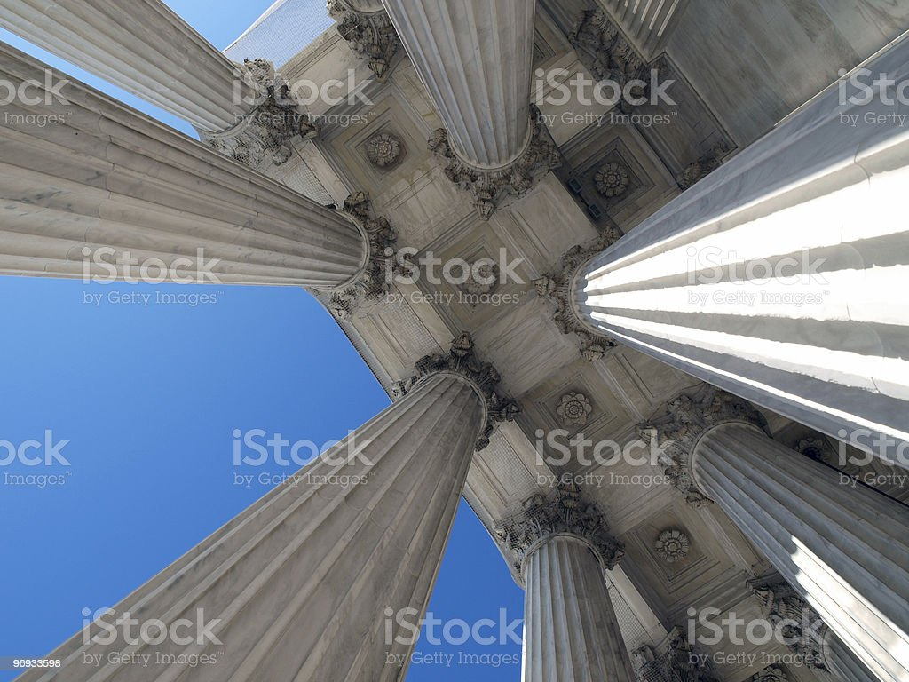Supreme Court Columns royalty-free stock photo