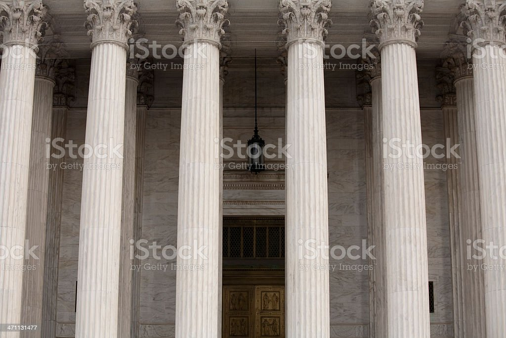 US Supreme Court columns, Washington DC royalty-free stock photo