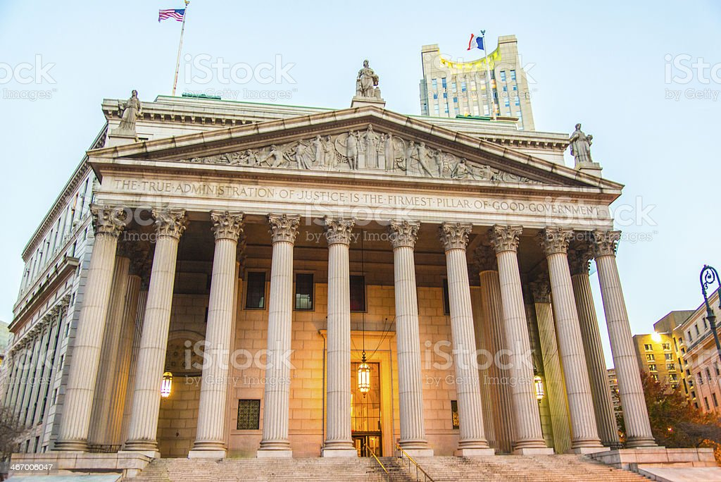 Supreme court, Courthouse, Law, Legal System, New York City, USA stock photo