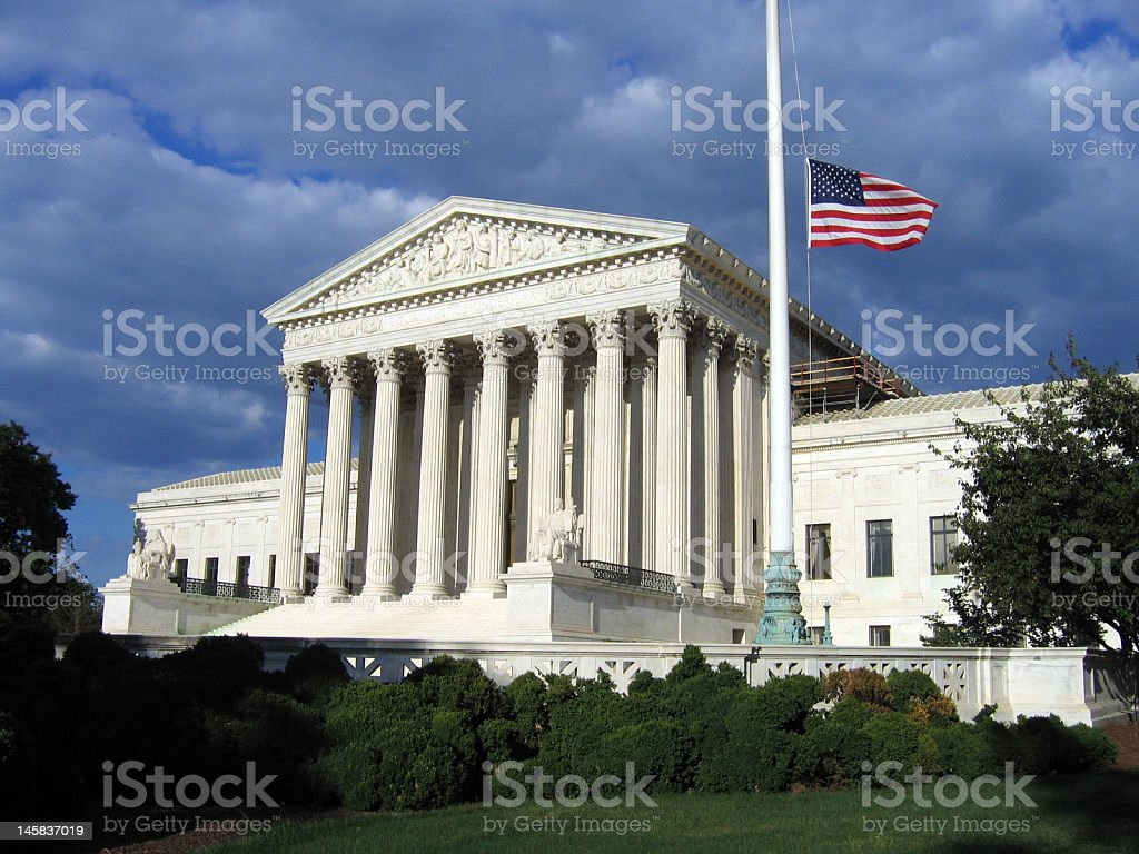 Supreme Court Courthouse royalty-free stock photo