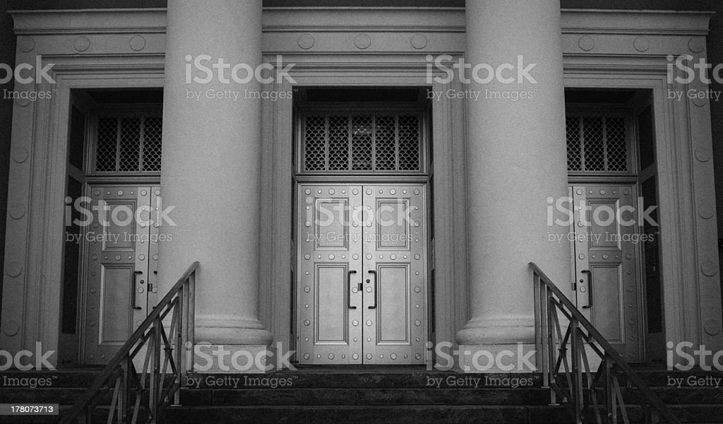 Supreme Court Doors royalty-free stock photo