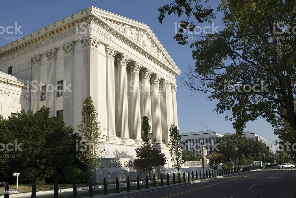 US Supreme Court - Eastern Facade royalty-free stock photo