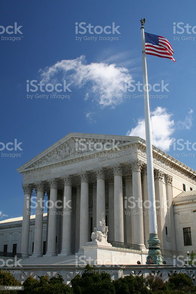 US Supreme Court Flag View royalty-free stock photo