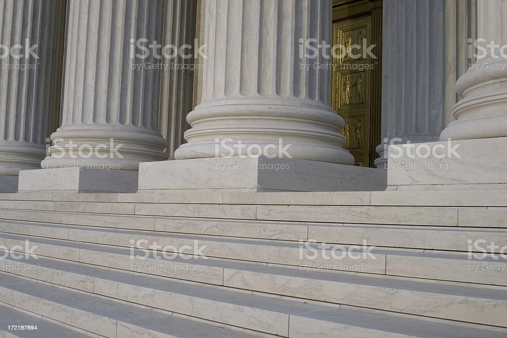 Supreme Court Front 1 royalty-free stock photo