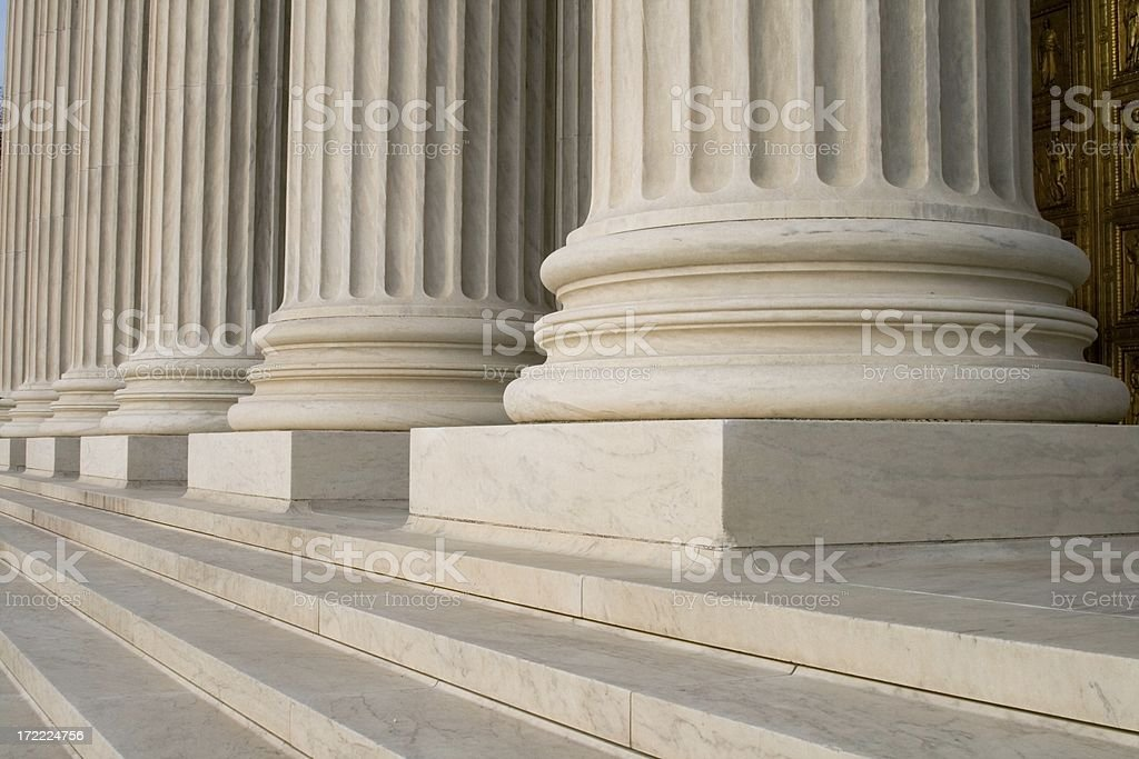 Supreme Court Front 4 royalty-free stock photo