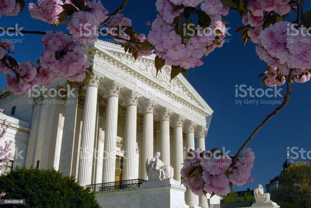 US Supreme Court in the Spring stock photo
