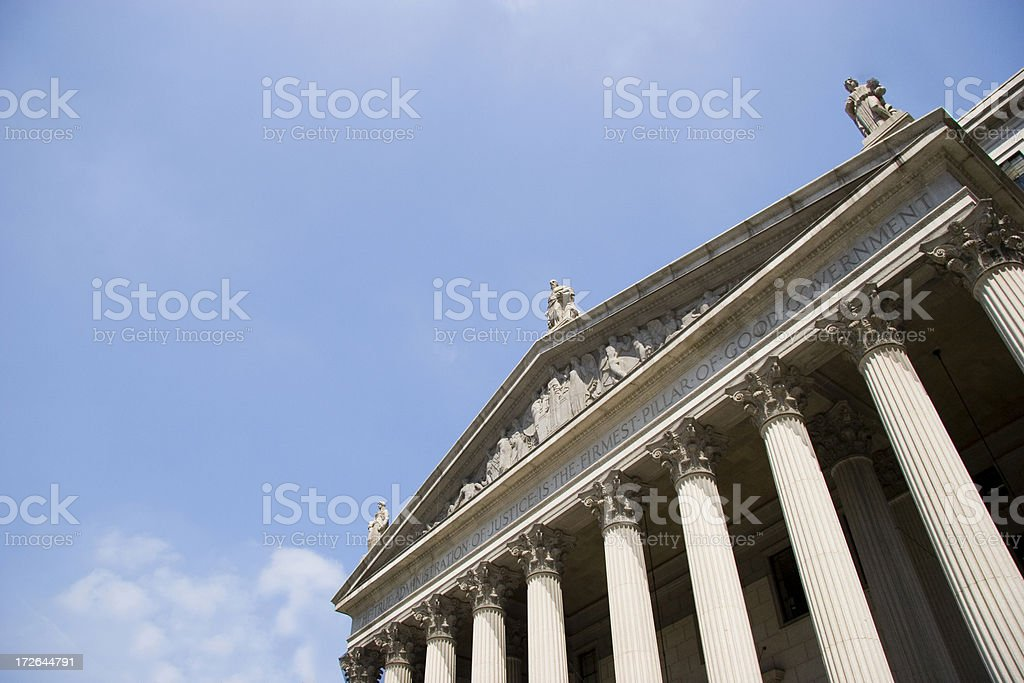 Supreme Court, New York royalty-free stock photo