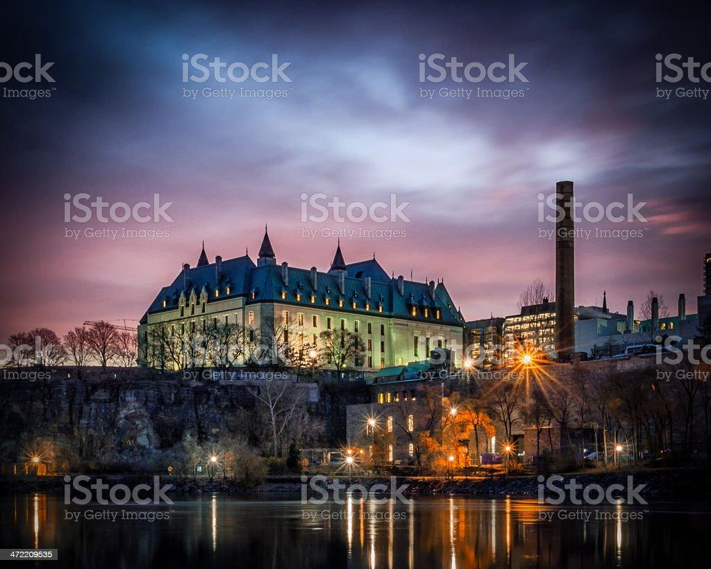 Supreme Court of Canada at Sunrise stock photo