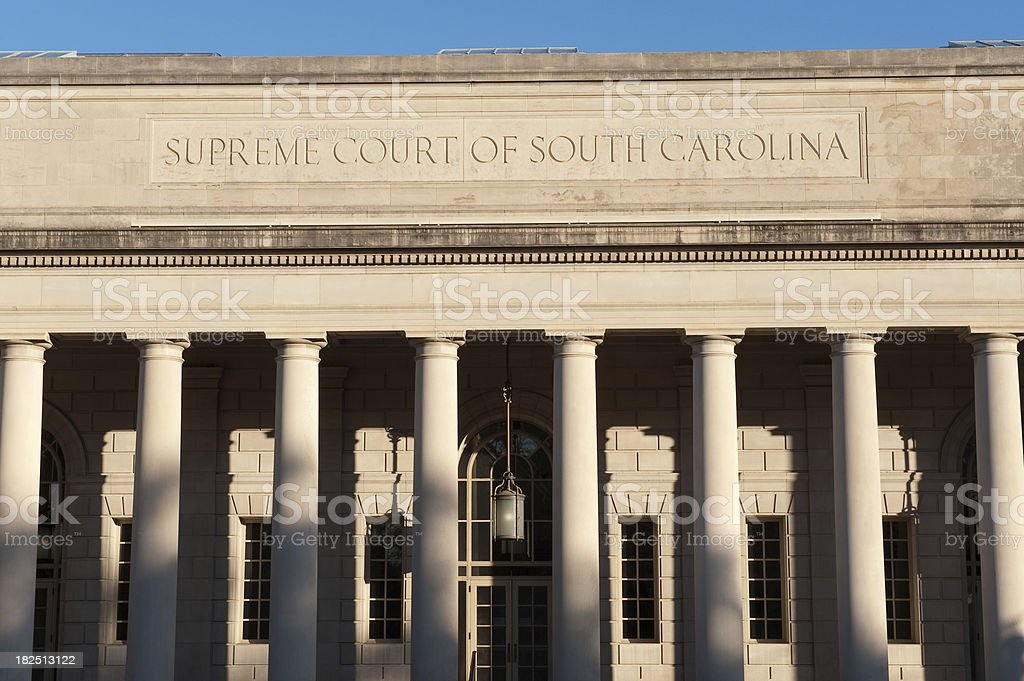 Supreme Court of South Carolina royalty-free stock photo
