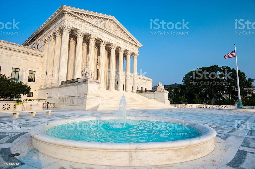 Supreme Court Of The United States In Washington DC stock photo
