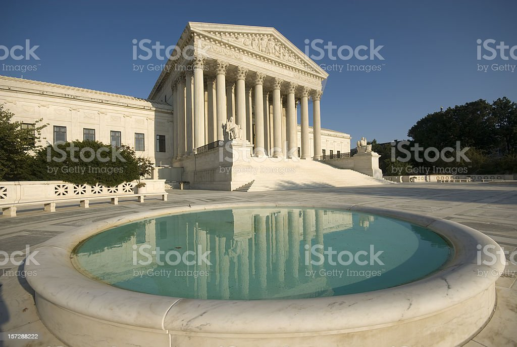 Supreme Court of the USA royalty-free stock photo