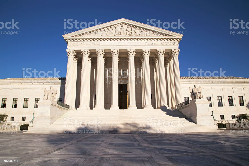 Supreme Court of U.S. stock photo