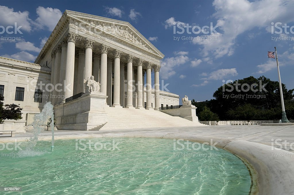 US Supreme Court royalty-free stock photo