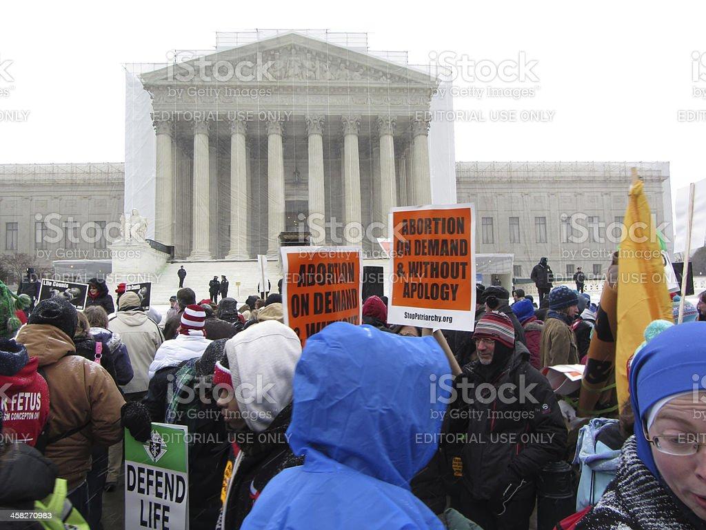 Supreme Court Protest stock photo