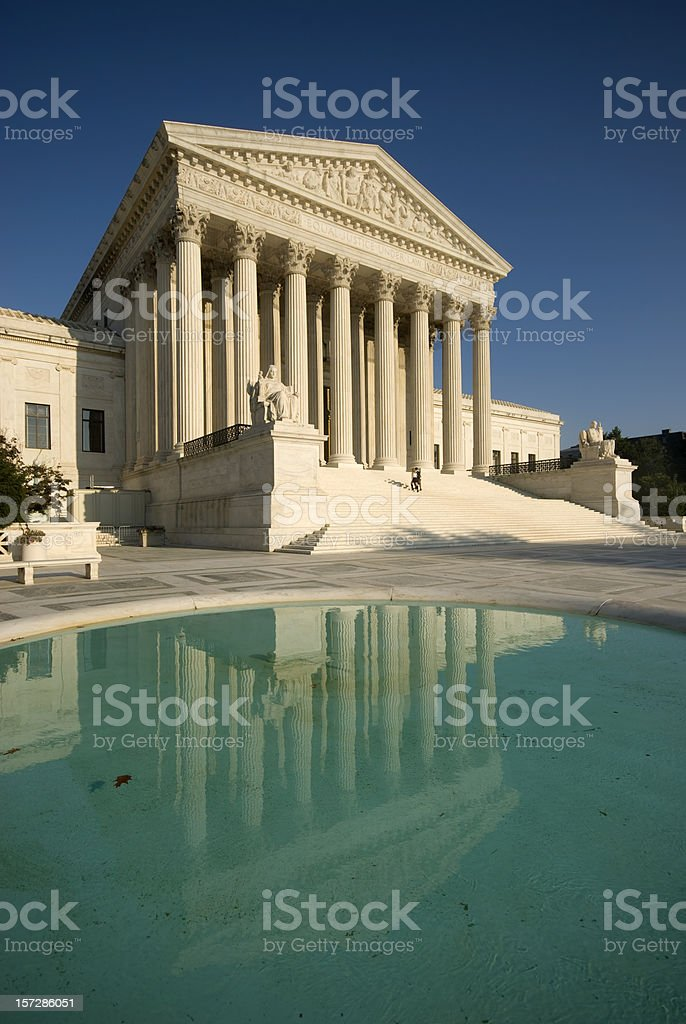 Supreme Court Reflection royalty-free stock photo