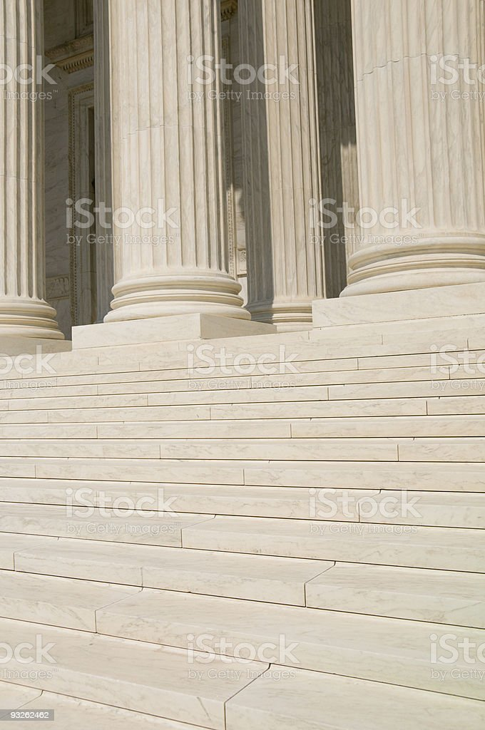US Supreme Court Steps royalty-free stock photo