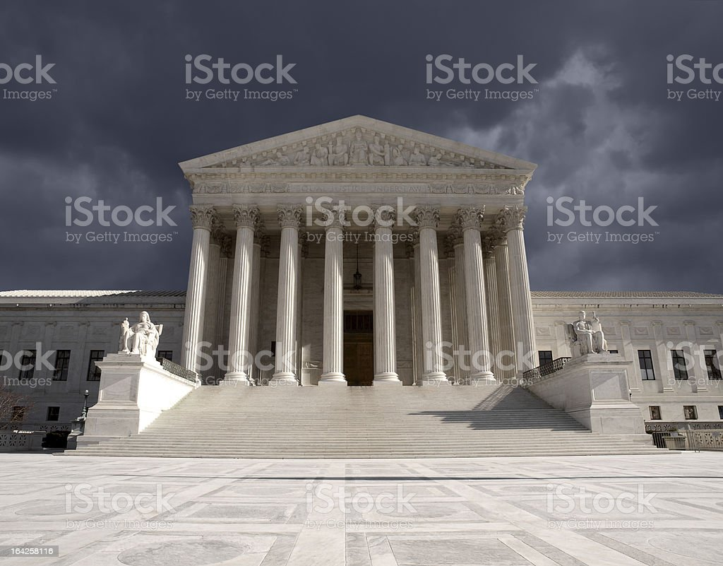 Supreme Court Storm royalty-free stock photo