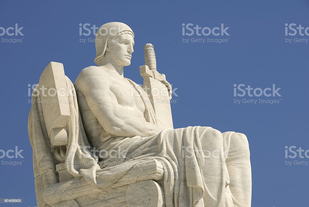 US Supreme Court - The Authority of Law royalty-free stock photo